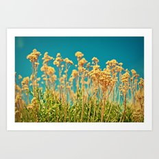 Blue & Gold & Green Art Print