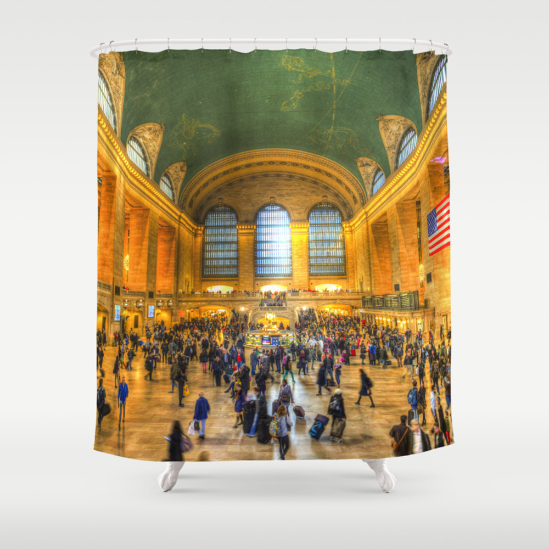 Grand Central Station New York Shower Curtain by Davidpyatt CTN8321773