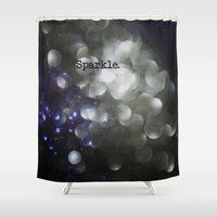 sparkle Shower Curtains featuring sparkle by Bonnie Jakobsen-Martin