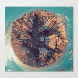Fish Eye World View (Color) Canvas Print