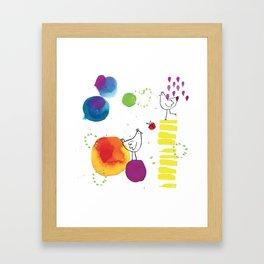 Watercolor Illustration Framed Art Print