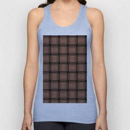 Large Dark Brown Weave Unisex Tank Top