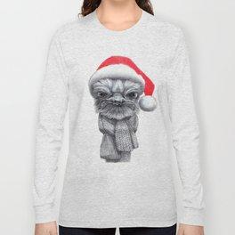 Christmas Ostrich red G145 Long Sleeve T-shirt