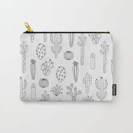 Cactus Silhouette Black Carry-All Pouch