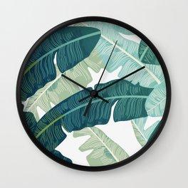 Tropical oasis Wall Clock