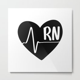 Nurses Heart Metal Print