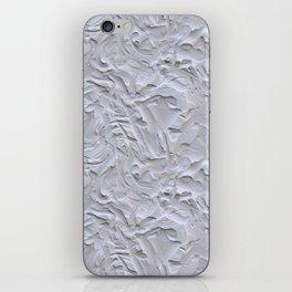 White Rough Plastering Texture iPhone Skin