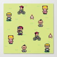 earthbound Canvas Prints featuring Earthbound - Mother 2 by Nikki White
