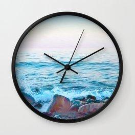 Hope on the Rocks Wall Clock