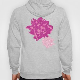 Peony Illustrated Pattern In Dreamy Pinks and Mint Green Hoody