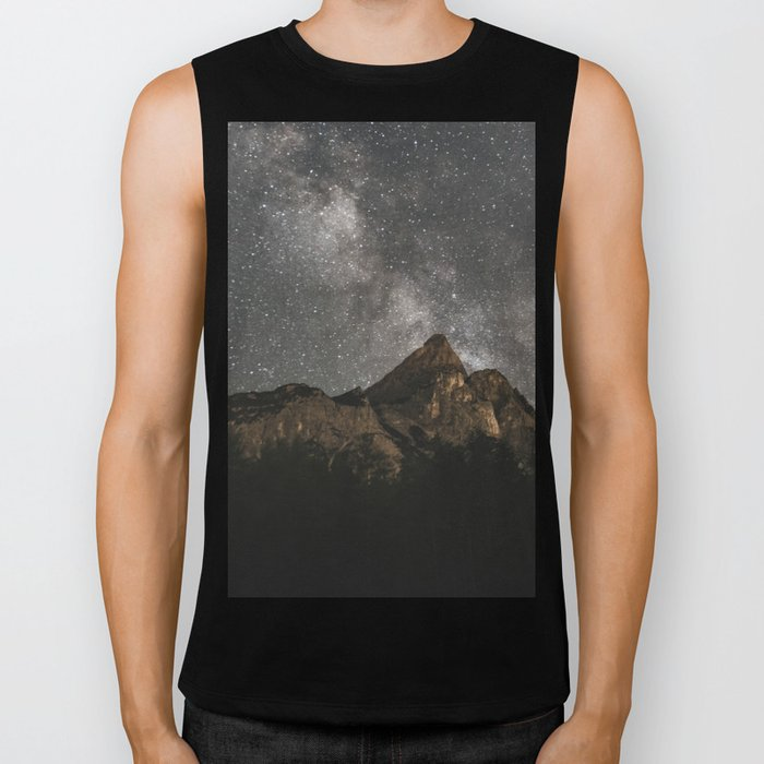 Milky Way Over Mountains - Landscape Photography Biker Tank
