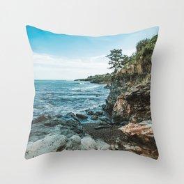 Ocean's Edge Newport Rhode Island Throw Pillow