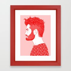 Red Beard Framed Art Print