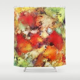 Red colour identity Shower Curtain