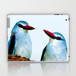 Woodland Kingfisher chit chat Laptop & iPad Skin