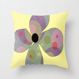 FLOWERY  FREYA / ORIGINAL DANISH DESIGN bykazandholly Throw Pillow