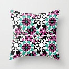 Tutti Fiori (pink) Throw Pillow