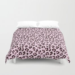 Leopard Print - Pink Chocolate Duvet Cover