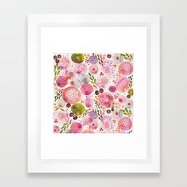 Pink Bubble for a Happy Spring Framed Art Print