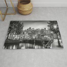AMSTERDAM Idyllic impression from Singel | Monochrome Rug