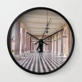 Pretty in Pink - The Grand Trianon at the Palace of Versailles Wall Clock