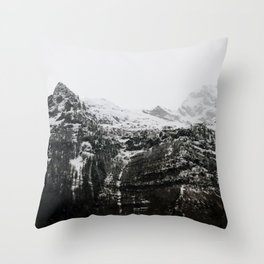 Swiss Alps - v3 Throw Pillow
