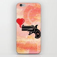 Pistol Blowing Bubbles of Love iPhone & iPod Skin