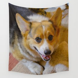 Josh The Corgi Wall Tapestry