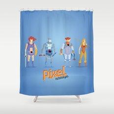 Thundercats - Pixel Nostalgia  Shower Curtain