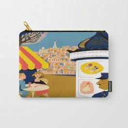 Vintage France Sidewalk Cafe Travel Carry-All Pouch