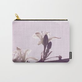 Hesperaloe parviflora Flower in Lavender Ice Carry-All Pouch