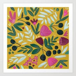 Mustard bouquet Art Print