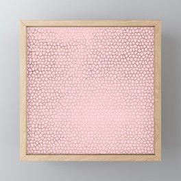 modern rose gold mozaic blush pink pattern Framed Mini Art Print