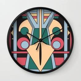 Pavo Totem - Art Deco Peacock Design Wall Clock