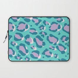 Blue/Lilac Leopard Laptop Sleeve