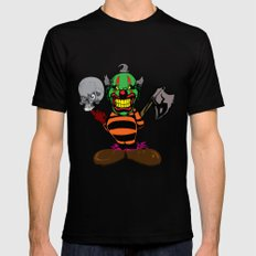 THE EVIL CLOWN Mens Fitted Tee MEDIUM Black