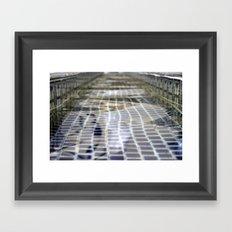 Fountain Water Framed Art Print