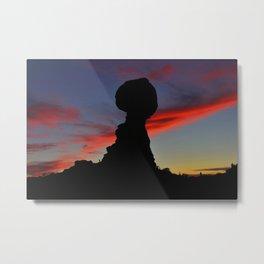 Arches National Park Balanced Rock Sunsets Metal Print