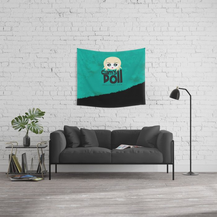 Cam's Doll Wall Tapestry