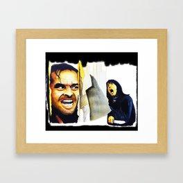 Jack Nicholson the Shining Halloween Vintage Framed Art Print