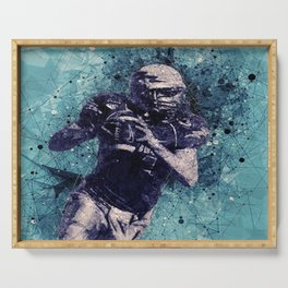 Football Player Serving Tray