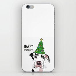 Happy Howlidays Great Dane iPhone Skin