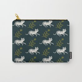 Snow Leopard & Fern Carry-All Pouch