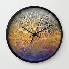 Atlante 11-06-16 / SUBAQUATIC - AERIAL Wall Clock