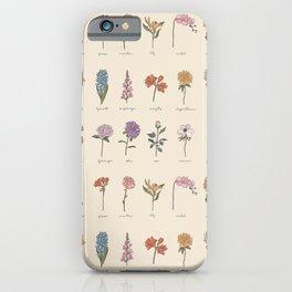 Botanic Flower Identification iPhone Case