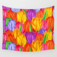 tulip Wall Tapestries featuring Tulip by Fifikoussout
