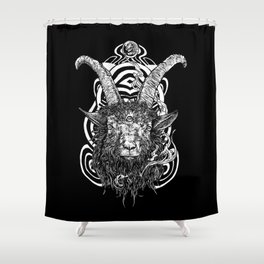 Goat 'em all Shower Curtain