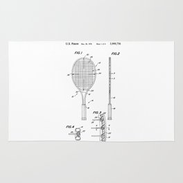 Tennis Racket Patent Rug