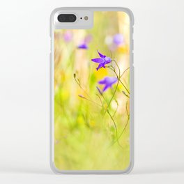 Beauty of wildflowers in the garden IV Clear iPhone Case