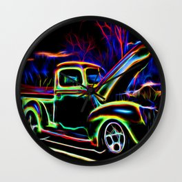 1940 Ford Pick-up Truck Neon Wall Clock